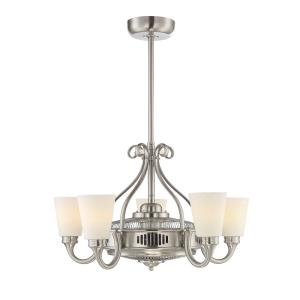 30W 5 LED Fan D lier-Transitional Style with Coastal and Transitional Inspirations-19.5 inches tall by 32 inches wide