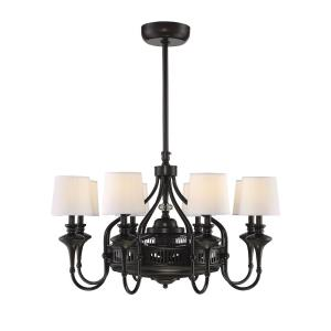 32W 8 LED Fan D'lier - Farmhousestyle with Transitional and Farmhouse inspirations - 20.25 inches tall by 34.75 inches wide