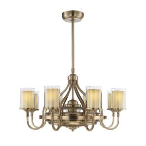 36W 6 LED Fan D lier-Transitional Style with Coastal and Traditional Inspirations-21.25 inches tall by 40 inches wide