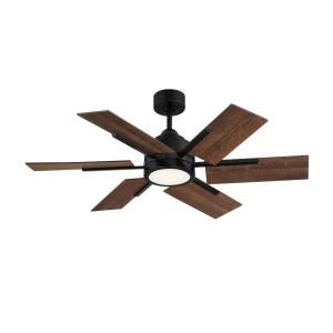 6 Blade Ceiling Fan with Light Kit - Farmhousestyle with Contemporary and Rustic inspirations - 8.07 inches tall by 44 inches wide