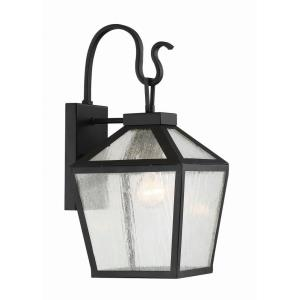 1 Light Outdoor Wall Lantern-Modern Farmhouse Style with Rustic and Transitional Inspirations-16.5 inches tall by 8 inches wide