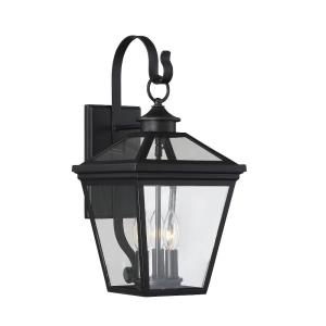3 Light Outdoor Wall Lantern - Modern Farmhousestyle with Rustic and Transitional inspirations - 19 inches tall by 9 inches wide