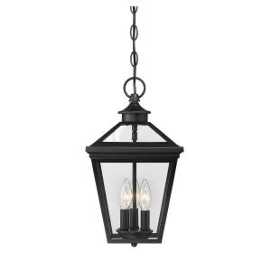 3 Light Outdoor Hanging Lantern-Modern Farmhouse Style with Rustic and Transitional Inspirations-15.75 inches tall by 9 inches wide