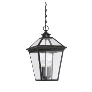 4 Light Outdoor Hanging Lantern-Modern Farmhouse Style with Rustic and Transitional Inspirations-25 inches tall by 14 inches wide