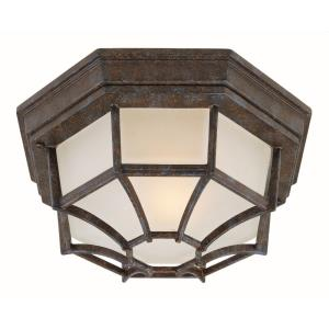 1 Light Outdoor Flush Mount-Industrial Style with Vintage and Contemporary Inspirations-20.75 inches tall by 7.5 inches wide