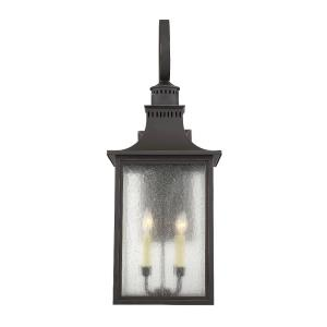 4 Light Outdoor Wall Lantern - Modern Farmhousestyle with Rustic and Transitional inspirations - 34.5 inches tall by 13 inches wide
