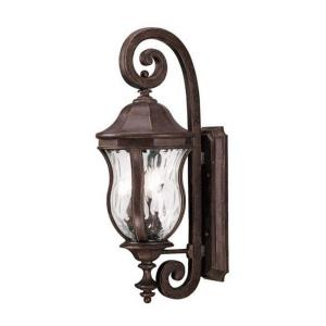 3 Light Outdoor Wall Lantern - Traditionalstyle with Country French and Transitional inspirations - 28 inches tall by 10.13 inches wide