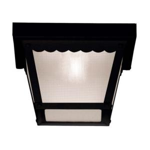 1 Light Outdoor Flush Mount - Traditionalstyle with Transitional inspirations - 6 inches tall by 8 inches wide