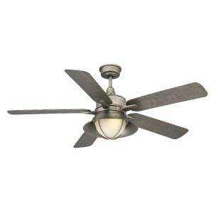 5 Blade Outdoor Ceiling Fan with Light Kit - Coastalstyle with Industrial and Transitional inspirations - 14.27 inches tall by 52 inches wide