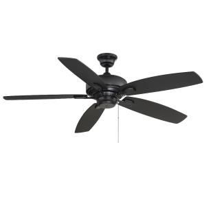5 Blade Ceiling Fan - Transitionalstyle with Contemporary inspirations - 9.11 inches tall by 52 inches wide