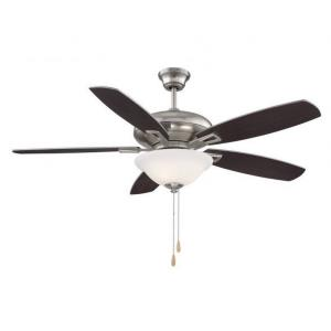5 Blade Ceiling Fan with Light Kit-Transitional Style with Contemporary Inspirations-6 inches tall by 52 inches wide