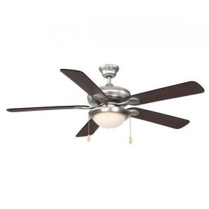 5 Blade Ceiling Fan with Light Kit - Traditionalstyle with Transitional inspirations - 12.09 inches tall by 52 inches wide