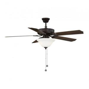 5 Blade Ceiling Fan with Light Kit-Traditional Style with Transitional Inspirations-13.83 inches tall by 52 inches wide