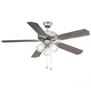 5 Blade Ceiling Fan with Light Kit - Traditionalstyle with Transitional inspirations - 8.99 inches tall by 52 inches wide