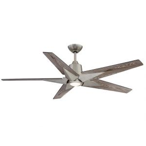 5 Blade Ceiling Fan with Light Kit - Transitionalstyle with Eclectic and Contemporary inspirations - 10.44 inches tall by 56 inches wide