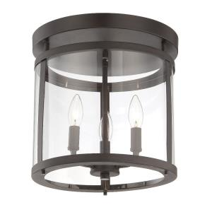 3 Light Semi-Flush Mount - Transitionalstyle with Traditional and Contemporary inspirations - 14 inches tall by 12.5 inches wide