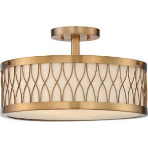 Spinnaker - Three Light Semi-Flush Mount