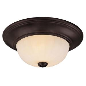 2 Light Flush Mount-Traditional Style with Transitional Inspirations-4.88 inches tall by 11 inches wide