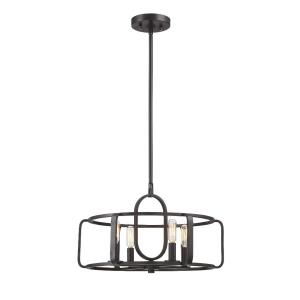 4 Light Convertible Semi-Flush Mount - Industrialstyle with Contemporary and Modern inspirations - 11 inches tall by 18 inches wide