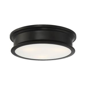 3 Light Flush Mount - Transitionalstyle with Bohemian and Industrial inspirations - 4 inches tall by 16 inches wide