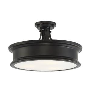 Watkins - 3 Light Semi-Flush Mount