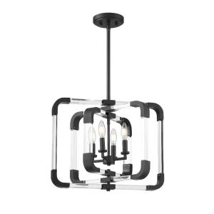 4 Light Semi-Flush Mount-Contemporary Style with Modern and Mid-Century Modern Inspirations-18 inches tall by 20 inches wide