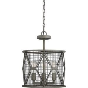 3 Light Semi-Flush Mount - Industrialstyle with Rustic and Farmhouse inspirations - 18 inches tall by 15 inches wide