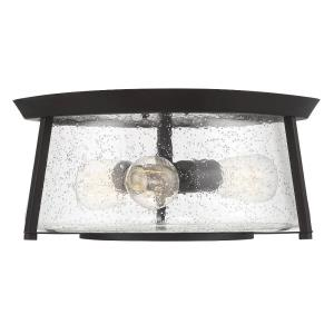 3 Light Flush Mount-Transitional Style with Contemporary and Bohemian Inspirations-6.75 inches tall by 16 inches wide