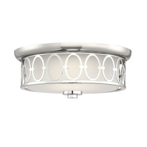 30W 1 LED Square Flush Mount - Contemporarystyle with Traditional and Glam inspirations - 5.5 inches tall by 14 inches wide