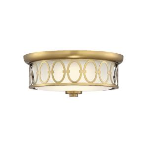 30W 1 LED Square Flush Mount-Contemporary Style with Traditional and Glam Inspirations-5.5 inches tall by 14 inches wide