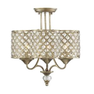 Regis - Three Light Semi-Flush Mount