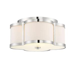 3 Light Semi-Flush Mount - Transitionalstyle with Bohemian and Eclectic inspirations - 8 inches tall by 16 inches wide