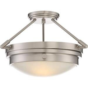 Lucerne - 10.75 Inch Two Light Semi-Flush Mount