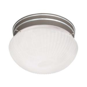 Two Light Flush Mount-Traditional Style with Transitional Inspirations-5.88 inches tall by 9 inches wide