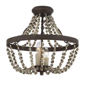 Mallory - Three Light Convertible Semi-Flush Mount