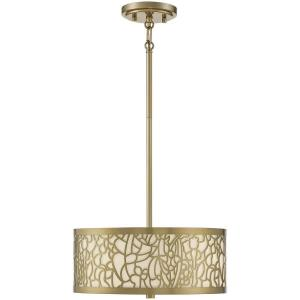 3 Light Semi-Flush Mount-5 inches tall by 14 inches wide