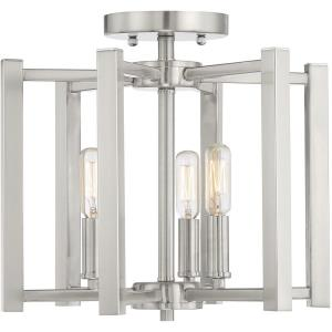 3 Light Semi-Flush Mount-12 inches tall by 13 inches wide
