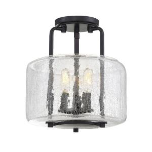 3 Light Semi-Flush Mount-Transitional Style with Traditional and Farmhouse Inspirations-12.25 inches tall by 11.38 inches wide