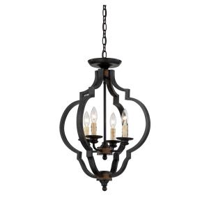 Kelsey - 4 Light Convertible Semi-Flush Mount