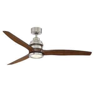3 Blade Ceiling Fan with Light Kit - Modernstyle with Contemporary and Transitional inspirations - 9.58 inches tall by 60 inches wide