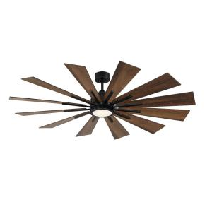 Farmhouse 12 Blade 60 Inch Ceiling Fan with Handheld Control and Includes Light Kit