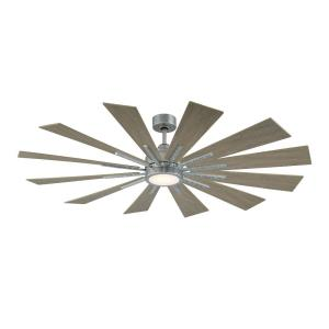 Farmhouse - 60 Inch 12 Blade Ceiling Fan with Light Kit