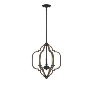 3 Light Pendant-Traditional Style with Farmhouse and Rustic Inspirations-20 inches tall by 16 inches wide