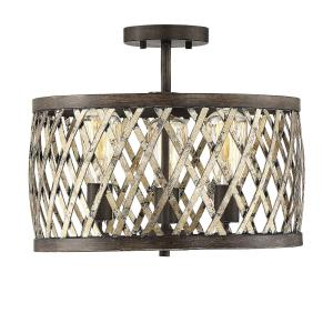 Sandoval - 3 Light Semi-Flush Mount