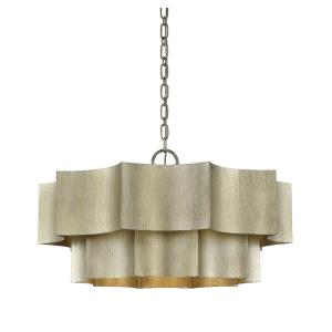 6 Light Pendant-Transitional Style with Contemporary Inspirations-16 inches tall by 30 inches wide