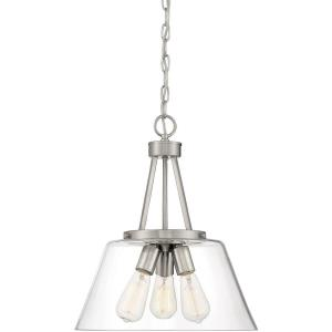 3 Light Pendant-18 inches tall by 15 inches wide