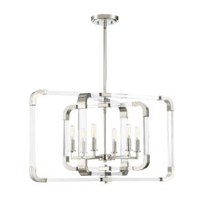 Rotterdam - 24.75 Inch Six Light Pendant
