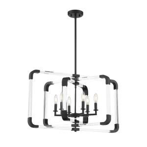 6 Light Pendant-Contemporary Style with Modern and Mid-Century Modern Inspirations-20.5 inches tall by 24.75 inches wide