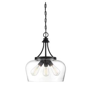 3 Light Pendant-Transitional Style with Contemporary and Bohemian Inspirations-18 inches tall by 15 inches wide