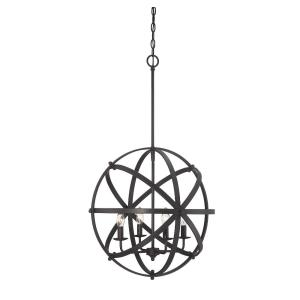 4 Light Pendant-Industrial Style with Contemporary and Transitional Inspirations-35 inches tall by 20 inches wide